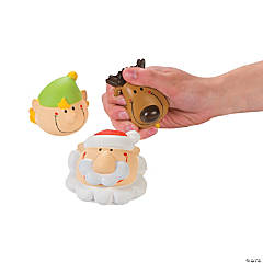 Foam Holiday Character Stress Toys