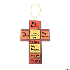 "Foam ""I Am Thankful For..."" Fall Cross Craft Kit"