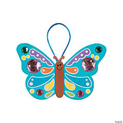 Foam Jewel Butterfly Ornament Craft Kit