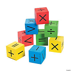 Foam Math Symbol Dice