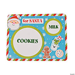 Foam Milk & Cookies for Santa Placemat Craft Kit