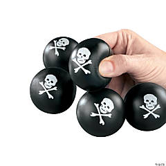 Foam Mini Skull And Crossbones Stress Balls