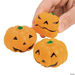 Foam Mini Squeeze Jack-O'-Lantern Stress Toys