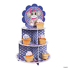 Foam Miss Sock Monkey Cupcake Holder
