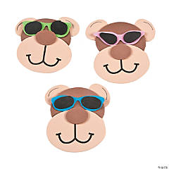 Foam Monkey Magnet with Sunglasses Craft Kit