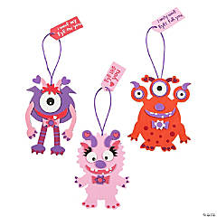 Foam Monster Valentine Ornament Craft Kit