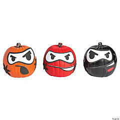 Foam Ninja Pumpkin Decorating Craft Kit
