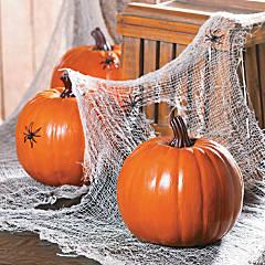 Foam Orange Pumpkin Halloween Decoration