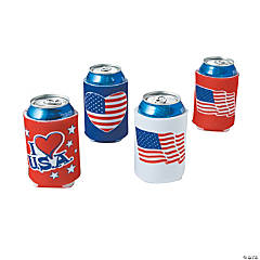 Foam Patriotic Can Covers