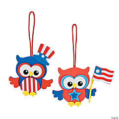 Foam Patriotic Owl Ornament Craft Kit