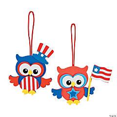 Foam Patriotic Owl Ornament Craft Kit