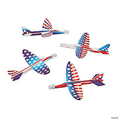 Foam Patriotic Printed Gliders
