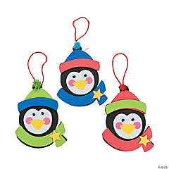 Foam Penguin Christmas Ornament Craft Kit