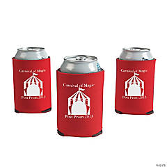 Foam Personalized Red Carnival Can Covers