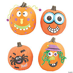 Foam Pumpkin Decorating Craft Kit Assortment