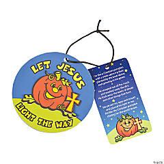 Foam Pumpkin Prayer Ornaments with Card Craft Kit