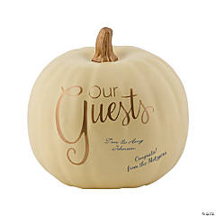 Foam Pumpkin Wedding Guest Book
