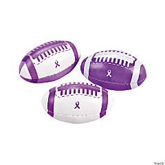 Foam Purple Awareness Ribbon Footballs