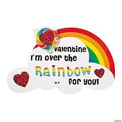 Foam Rainbow Valentine Sucker Card Craft Kit