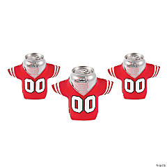 Foam Red Jersey Shaped Can Covers