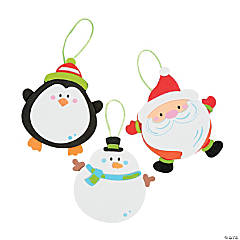 Foam Round Christmas Character Ornament Craft Kit