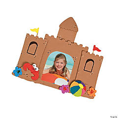 Foam Sandcastle Picture Frame Magnet Craft Kit
