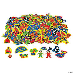 Foam Self-Adhesive Chinese New Year Shapes