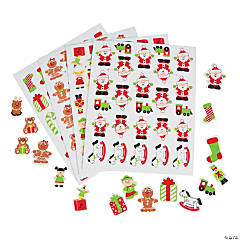 Foam Self-Adhesive Santa's Workshop Shapes