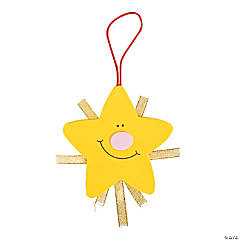 Foam Shining Nativity Star Christmas Ornament Craft Kit