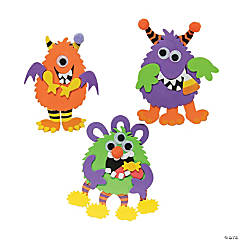 Foam Silly Monster Magnet Craft Kit