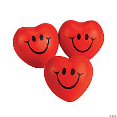 Foam Smile Face Heart-Shaped Stress Balls