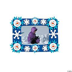 Foam Smile Face Snowman Picture Frame Magnet Craft Kit
