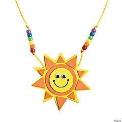 Foam Smile Face Sun Necklace Craft Kit