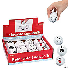 Foam Snowball Stress Balls