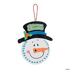 Foam Snowman Christmas Countdown Sign Craft Kit