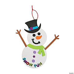 Foam Snowman Door Sign Craft Kit