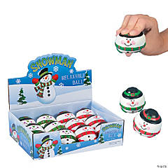 Foam Snowman Relaxable Balls