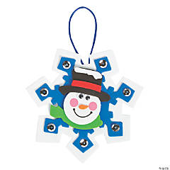 Foam Snowman Snowflake Christmas Ornament Craft Kit