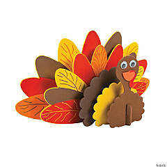 Foam Standing Turkey Craft Kit