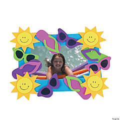 Foam Summer Fun Picture Frame Magnet Craft Kit