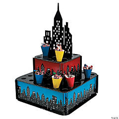 Foam Superhero City Tray with Paper Cones