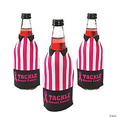 "Foam ""Tackle Breast Cancer"" Bottle Covers"