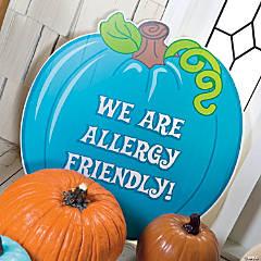 Foam Teal Pumpkin Halloween Decoration
