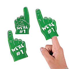 Foam Team Spirit Green Mini Foam Fingers
