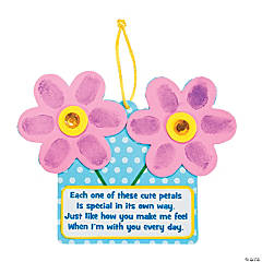 Foam Thumbprint Flower Sign with Poem Craft Kit