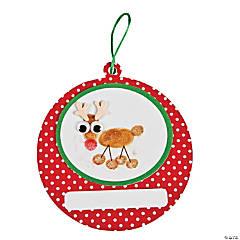 Foam Thumbprint Reindeer Christmas Ornament Craft Kit