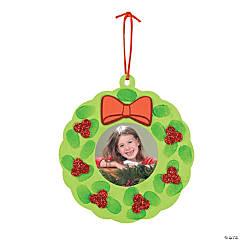 Foam Thumbprint Wreath Picture Frame Christmas Ornament Craft Kit