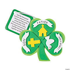 Foam Trinity Lucky Shamrock Ornament Craft Kit
