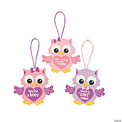 Foam Valentine Owl Ornament Craft Kit