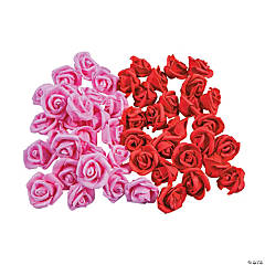 Foam Valentine Rose Buds